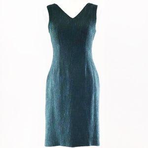 Banana Republic Tweed V-Neck Sleeveless Dress